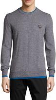 Kenzo Men's Cotton Tiered Crewneck Sweater