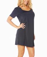 Black Butterknit Nightgown- Plus Too