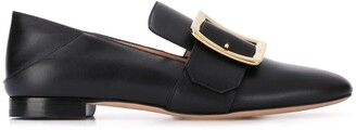 Bally Front Buckle Loafers