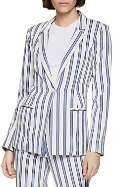 BCBGeneration Striped One-Button Blazer