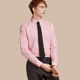 Burberry Slim Fit Button-down Collar Gingham Cotton Poplin Shirt , Size: 16, Pink