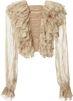 Zimmermann Bowerbird Teased Frill Blouse