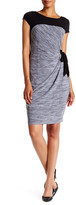Sangria Cap Sleeve Melange Shift Dress