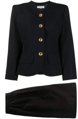 Saint Laurent Pre-Owned petal skirt suit