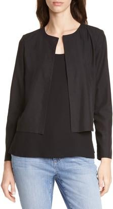 Eileen Fisher Crop Tencel Lyocell Blend Jacket