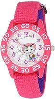 Disney Girl's 'Sheriff Callie' Quartz Plastic and Nylon Automatic Watch, Color:Pink (Model: W003080)