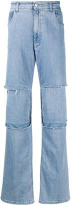 Raf Simons Patchwork Bootcut Jeans