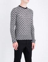 Lanvin Checkerboard wool-jacquard jumper