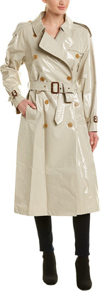 Burberry Laminated Gabardine Trench Coat