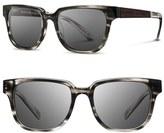 Shwood Women's 'Prescott' 52Mm Polarized Acetate & Wood Sunglasses - Black/ Ebony/ Greypol