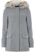 Dorothy Perkins Womens Grey Utility Duffle Coat- Grey