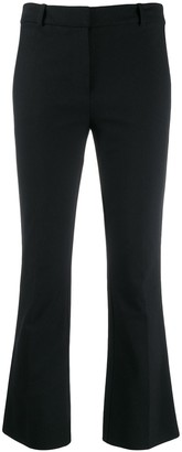 Derek Lam 10 Crosby Corinna Tuxedo Stripe Cropped Flare Crosby Cotton Twill Trouser