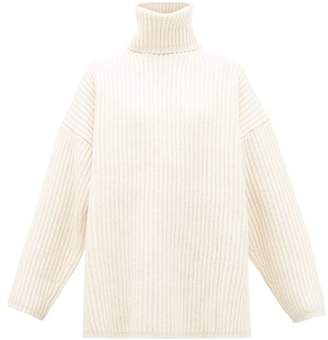 Acne Studios Disa Roll-neck Wool Sweater - Womens - Ivory