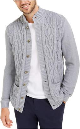 Tasso Elba Men Cable Knit Cardigan