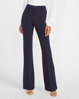 Express High Waisted Stretch Knit Flare Pant