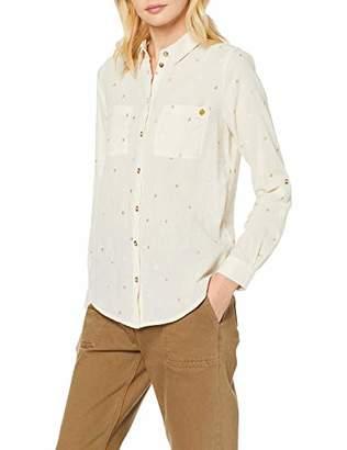Superdry Women's Conversational Shirt Blouse, (White Star ECK), (Size: 12)