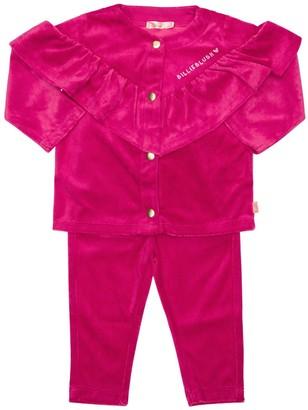 Billieblush Ruffled Velvet Sweatshirt & Sweatpants