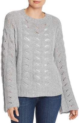 Aqua Bell-Sleeve Pointelle Cashmere Sweater - 100% Exclusive
