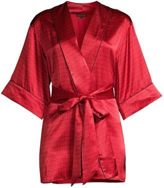 Kiki de Montparnasse Handcuff-Print Silk Robe