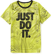 Nike Big Boys 8-20 Legend Just Do It Moire Sublimation-Printed Short-Sleeve Tee