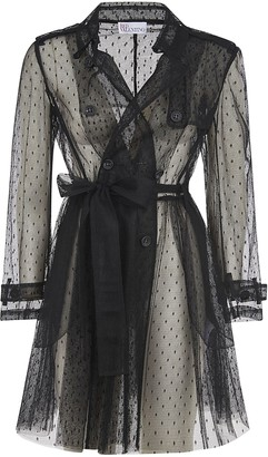 RED Valentino See-through Fitted Waist Dress