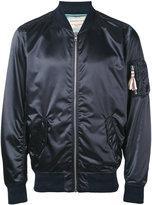 MAISON KITSUNÉ metallic bomber jacket - men - Polyamide/Acetate/Viscose - S