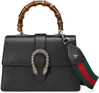 Gucci Dionysus Small Leather & Bamboo Top-Handle Bag