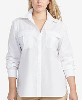 Lauren Ralph Lauren Plus Size Straight-Fit Long-Sleeve Shirt
