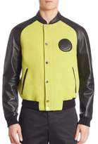 Versace Giubbotto Leather Bomber Jacket