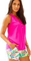 Lilly Pulitzer Bailey Sleeveless Silk Top