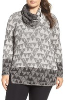 Nic+Zoe Plus Size Women's Starstruck Scarf Neck Knit Top