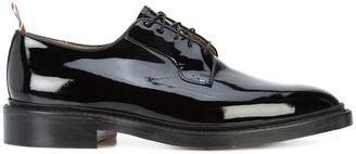 Thom Browne Classic Blucher In Black Patent Leather