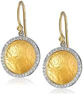 Gurhan Hourglass Yellow Gold and White Diamond Dangle Earrings (3/8 cttw, H-I Color, SI2-I1 Clarity)