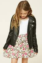 Forever 21 Girls Floral Skater Skirt (Kids)