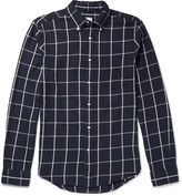 Gant Brooklyn Slim-Fit Button-Down Collar Checked Cotton Shirt