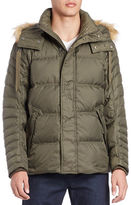 Andrew Marc Faux Fur-Trimmed Puffer Coat