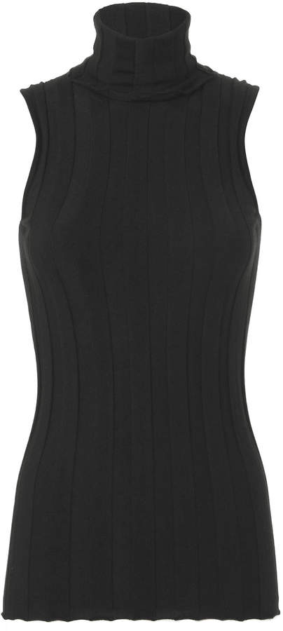 Derek Lam Ribbed Sleeveless Core Turtleneck