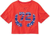 Arizona Cropped Football Tee - Girls 7-16