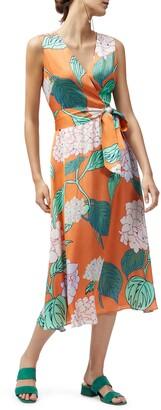 Lafayette 148 New York Floral Print Midi Dress