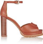 See by Chloe Ivy Textured-leather Platform Sandals - Tan