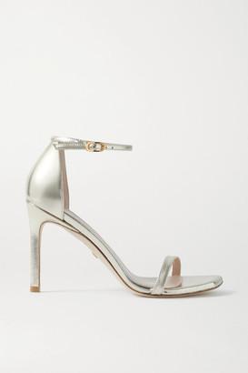Stuart Weitzman Amelina Metallic Leather Sandals - Gold