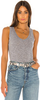 Monrow Narrow Tank in Gray. - size M (also in XS)