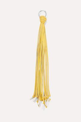 Loewe Fringed Leather Bag Charm - Yellow