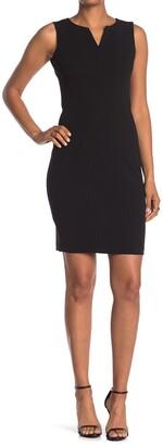 Calvin Klein Split V-Neck Sheath Dress