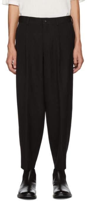 Comme des Garcons Black Cropped Trousers