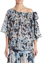 Chloé Floral Off-The-Shoulder Top