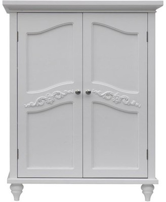 Elegant Home Fashions Somerset Floor Cabinet, White