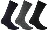 John Lewis Thermal Wool Socks, Pack Of 3, One Size, Navy/grey/black