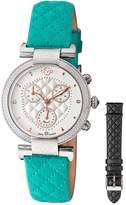 Women's Berletta Chrono Diamond Leather Strap Watch