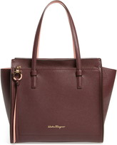 Salvatore Ferragamo Medium Amy Gancio Leather Tote